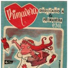 Tebeos: PRIMAVERA -DEDICADO A LA PRIMAVERA ESA- Nº 1 (ÚNICO). EDITORIAL MATEU,1960. ORIGINAL. Lote 177963429