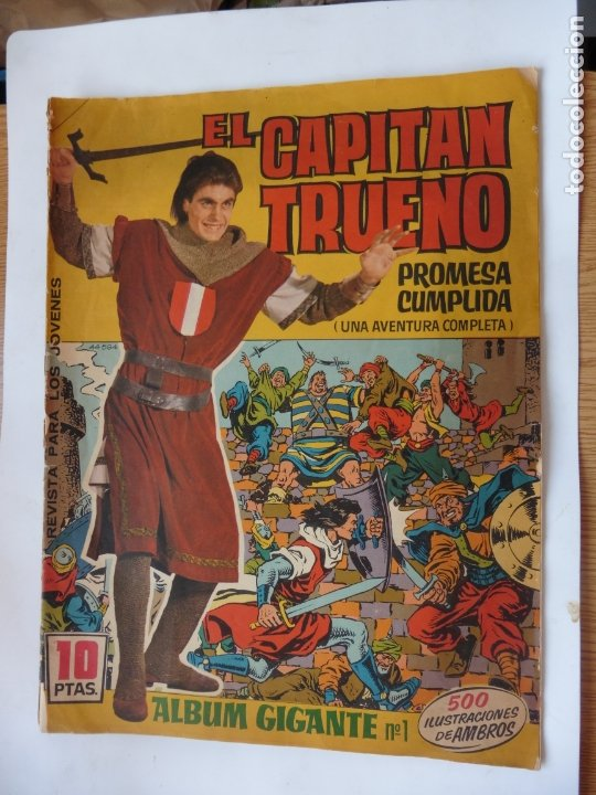 CAPITAN TRUENO GIGANTE Nº 1 E, BRUGUERA ORIGINAL (Tebeos y Cómics - Números 1)
