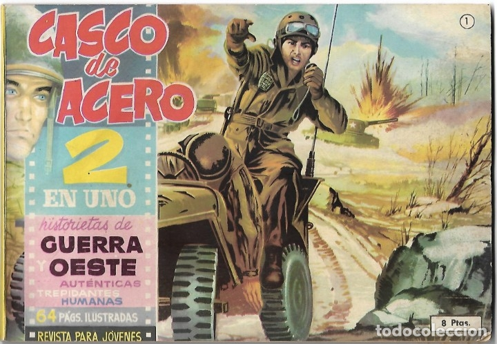 CASCO DE ACERO DOS EN UNO Nº 1 - ORIGINAL BUEN ESTADO - LEER (Tebeos y Cómics - Números 1)
