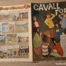 Tebeos: CAVALL FORT NÚMERO 28 ,GRAN FORMATO.1963.. Lote 189104432