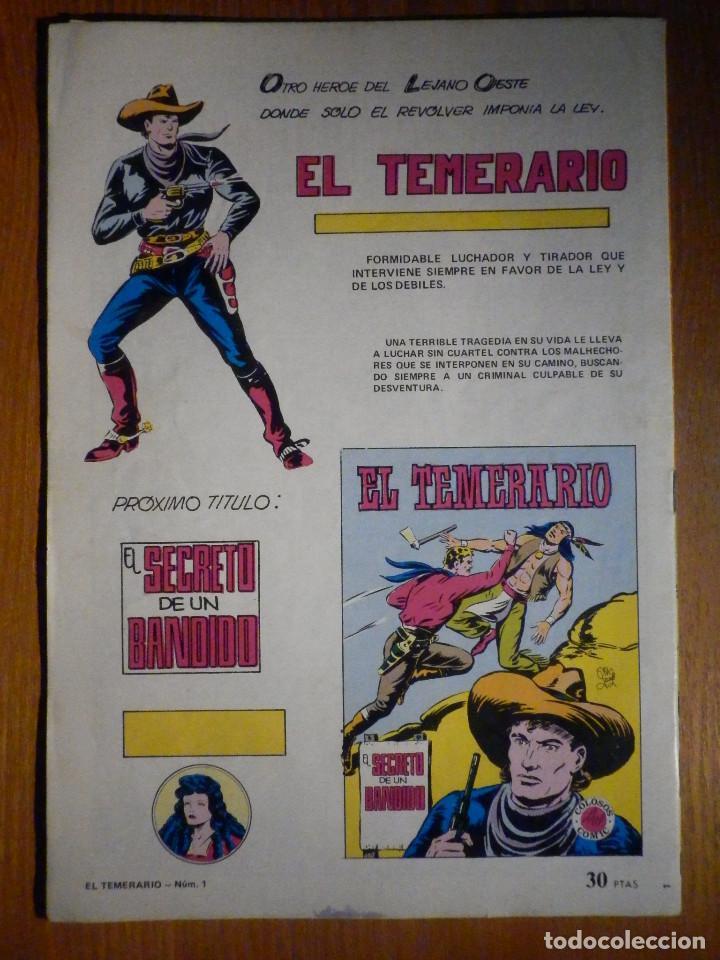 Tebeos: Comic - El temerario Nº 1 , Valenciana - Foto 2 - 193978200
