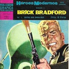 Tebeos: BRICK BRADFORD. DOLAR 1966. Nº 1 ENTRE DOS ENEMIGOS. Lote 194683847