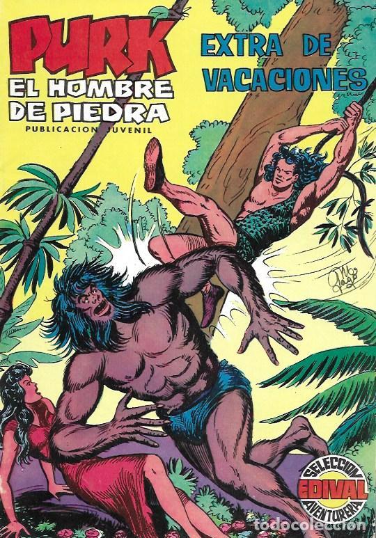 PURK EL HOMBRE DE PIEDRA. VALENCIANA 1974. EXTRA DE VACACIONES (Tebeos y Cómics - Números 1)
