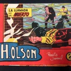 Livros de Banda Desenhada: H. OLSON - LA LLAMADA DEL MUERTO - NUMERO 1 - IMPECABLE, DE DISTRIBUIDORA, SIN LEER. Lote 196654353