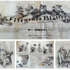 Livros de Banda Desenhada: SEMANARIO FLIEGEU BLATTEM (S.XIX) POR GASPAR BRAUM - 52 TEBEOS ALEMANES. Lote 197085898