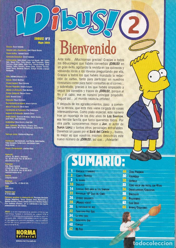 Tebeos: 2 TEBEOS DIBUS Nº 1 Y 2 EDITADOS EN EL AÑO 2000 - Foto 4 - 202810967