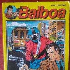 Tebeos: NUMERO 1 - BALBOA (LOGICA DE UN HOMICIDIO)- EDICIONES ZINCO - 1989 - 98 PAG.. Lote 202933585