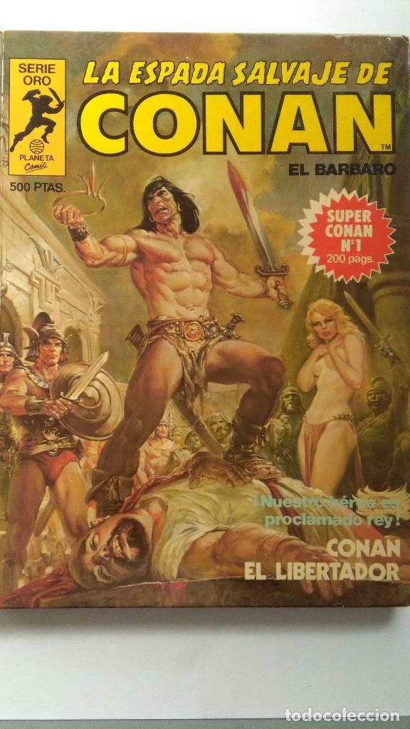 LA ESPADA SALVAJE DE CONAN EL BARBARO SUPERCONAN NUMERO 1- PRIMERA EDICIÓN -LOMO VERDE # (Tebeos y Cómics - Números 1)