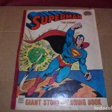 Tebeos: MAGNIFICO GRAN SUPERMAN THE LEGEND GIANT STORY COLORING BOOK 1978-1984 DC COMICS SUPER POWERS. Lote 203893637