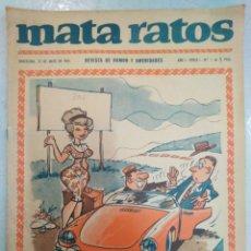 BDs: MATA RATOS-N°1,AÑO I,ÉPOCA I, MAYO 1965,REVISTA DE HUMOR Y AMENIDADES. Lote 205105398
