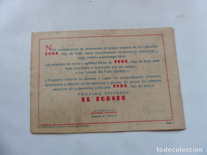 Tebeos: TORG Nº 1 ANDALUZA ORIGINAL - Foto 2 - 212097066