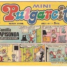 Tebeos: PULGARCITO MINI Nº 1-BRUGUERA 1975 MUY BUEN ESTADO- LEER DESCR Y VER FOTOS. Lote 214700767