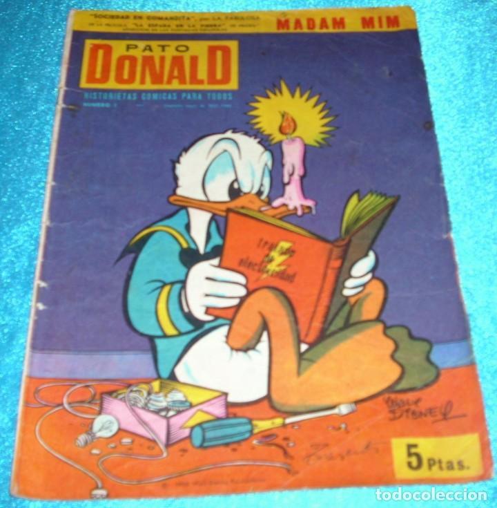 PATO DONALD Nº 1, ERSA 1965, 30X21 -BUEN ESTADO- LEER DESCR Y VER FOTOS (Tebeos y Cómics - Números 1)