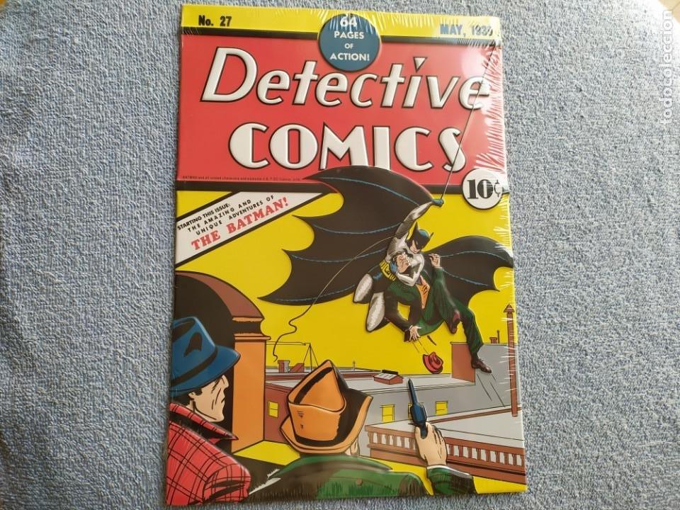 PORTADA METÁLICA PRIMERA APARICIÓN DE BATMAN, PRECINTADO.DETECTIVE COMICS 27. (Tebeos y Cómics - Números 1)