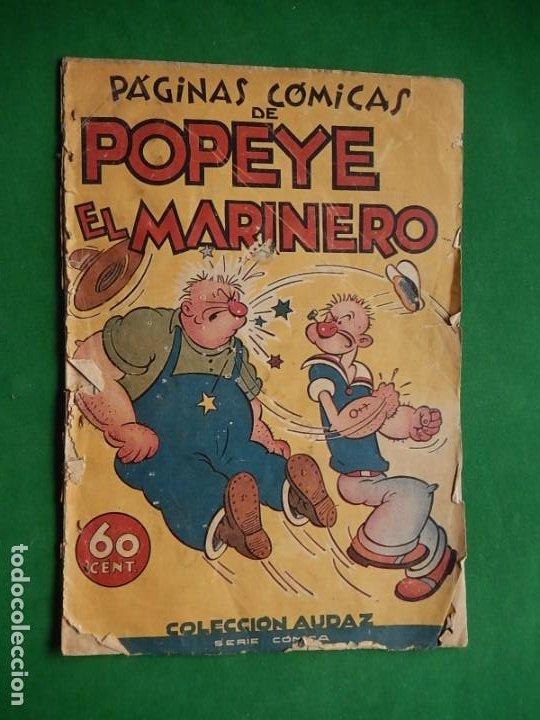 PÁGINAS CÓMICAS POPEYE EL MARINERO. COLECCIÓN AUDAZ. HISPANO AMERICANA EDICIONES S.A. BARCELONA. (Tebeos y Cómics - Números 1)