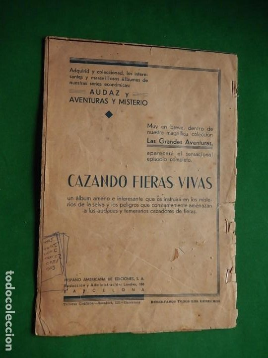 Tebeos: Páginas Cómicas Popeye el Marinero. Colección Audaz. Hispano Americana Ediciones S.A. Barcelona. - Foto 2 - 218414841