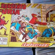 Tebeos: EL SARGENTO FURIA- EMBOSCADA!, N°1. EDITORIAL BRUGUERA, 1962.. Lote 222630577