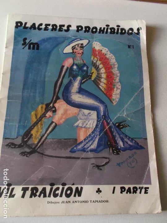 Tebeos: PLACERES PROHIBIDOS Nº1- Vil Traicion - JUAN ANTONIO TAPIADOR 1986 // BIZARRO COMIC NAIF SADO BDSM - Foto 2 - 227713915