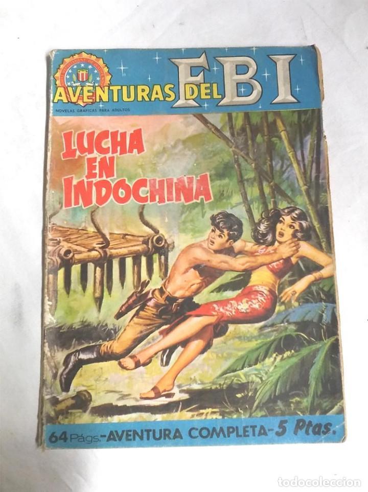 AVENTURAS DEL FBI Nº 1 LUCHA EN INDOCHINA - EDITORIAL ROLLÁN AÑO 64 . MED 16'50 X 12 CM (Tebeos y Cómics - Números 1)