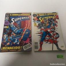 Tebeos: SUPERMAN EL HOMBRE DE ACERO N 1 Y 2. Lote 233827460