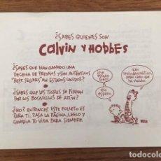 Tebeos: ¿SABES QUIENES SON CALVIN Y HOBBES? - FOLLETO PROMOCIONAL. Lote 234514440