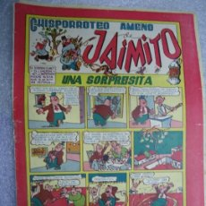 Tebeos: JAIMITO , CHISPORROTEO AMENO , NUMERO 50 , VALENCIANA 1945 MIDE 17 X 24 CM. MUY RARO. Lote 237724235