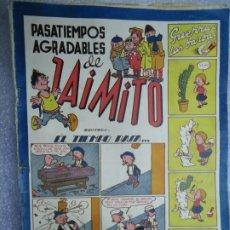 Tebeos: PASATIEMPOS AGRADABLES DE JAIMITO EL TIEMPO PASA VALENCIANA 1947 ILUSTRA IZQUIERDO MIDE 17 X 24 CM.. Lote 237726025