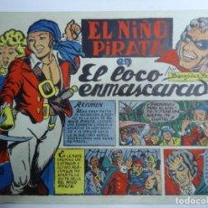 BDs: EL NIÑO PIRATA Nº 6 - EDICIONES BERYA LA CORUÑA AÑOS 40 MUY RARO POR BERMUDEZ YAGÜE MIDE 18 X 25 CM.. Lote 238596355