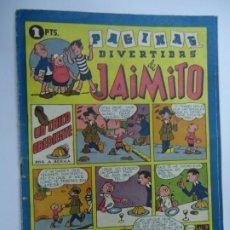 Tebeos: PAGINAS DIVERTIDAS DE JAIMITO UN CHICO OBEDIENTE VALENCIANA AÑOS 40 MIDE 17 X 24 CM.. Lote 239445310