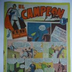 BDs: EL CAMPEÓN N° 1 ERIK EL ENIGMA VIVIENTE - LA MUERTE ESPERA / AÑO 1948 BRUGUERA MIDE 25 X 18 MUY RARO. Lote 239567665