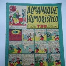 Tebeos: T B O ALMANAQUE HUMORÍSTICO PARA 1950 POR FIN SERAPIO PUEDE VER REALIZADO SU SUEÑO DORADO ADQUIRIEN. Lote 239840435