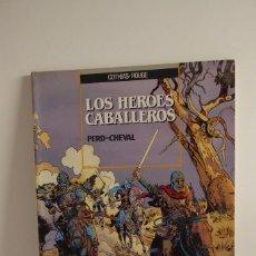 Tebeos: LOS HÉROES CABALLEROS Nº 1 - PERD CHEVAL - ED.ZINCO 1990 - MUY BUEN ESTADO. Lote 244401750
