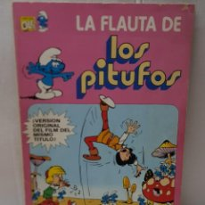 Tebeos: COMIC LOS PITUFOS LA FLAUTA DE NÚMERO 1 DE 1979 EDITORIAL BRUGUERA COLECCIÓN OLE. Lote 245293725