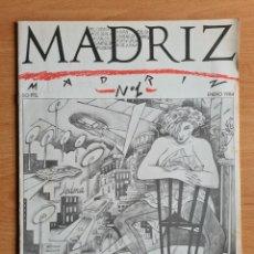 Giornalini: REVISTA MADRIZ NÚM. 1 AÑO 1984 - PORTADA DIBUJO CEESEPE - EL CUBRI OPS CARLOS GIMÉNEZ... MOVIDA. Lote 260265600