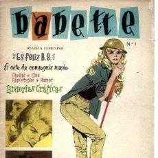 BDs: BABETTE Nº 1 COMIC BRIGITTE BARDOT. Lote 265761244