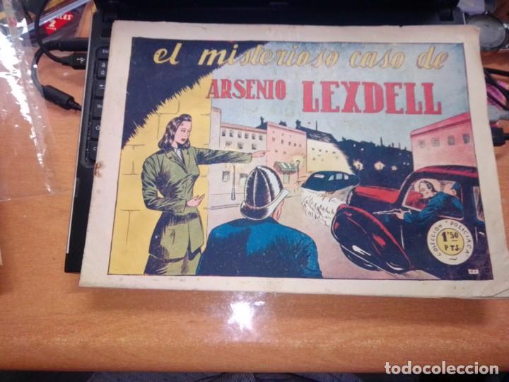 MUY RARO --POLICIACA, Nº 1 -,EL MISTERIOSO CASO DE ARSENIO LEXDELL - BERGIS MUNDIAL AÑOS 40 - TAMAÑO (Tebeos y Cómics - Números 1)