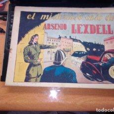 Tebeos: MUY RARO --POLICIACA, Nº 1 -,EL MISTERIOSO CASO DE ARSENIO LEXDELL - BERGIS MUNDIAL AÑOS 40 - TAMAÑO. Lote 269294158