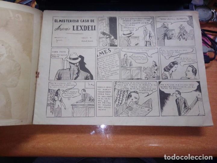 Tebeos: muy raro --Policiaca, nº 1 -,El misterioso caso de Arsenio Lexdell - Bergis Mundial años 40 - Tamaño - Foto 2 - 269294158