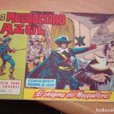 Tebeos: EL MOSQUETERO AZUL Nº 1 (CUADERNILLO ORIGINAL). EDITORIAL BRUGUERA 1962. DIBUJOS DE MANUEL GAGO. Lote 269838588