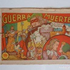 Tebeos: EL CABALLERO FANTASMA Nº 1 GUERRA A MUERTE, SATURNO 1947, DE SANGAR. Lote 277686328