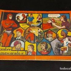 Livros de Banda Desenhada: EL HOMBRE ENMASCARADO Nº 1 / ÁLBUM ROJO / ORIGINAL / DOBLEZ EN PORTADA / USO DE LA ÉPOCA.. Lote 281976863