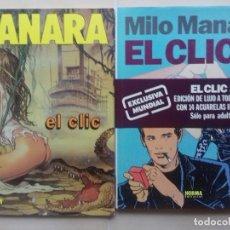 Tebeos: EL CLIC 1 Y 2 (EDICIÓN DE LUJO) 1991-1992 - IMPECABLES - VER FOTOS - MILO MANARA - EROTISMO. Lote 288182018