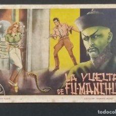 Giornalini: DIAMANTE NEGRO Nº 1. LA VUELTA DE FU-MANCHU. EDICIONES RIALTO 1944. ORIGINAL. Lote 292132558