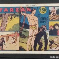 Giornalini: TARZÁN, Nº 1, EL HOMBRE MONO - EDITORIAL HISPANO AMERICANA 1942 - TAMAÑO 215X315 ORIGINAL. Lote 292139163