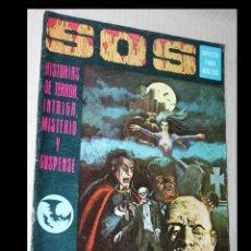 Tebeos: SOS-AÑO I N 1,AÑO 1975,HISTORIA DE TERROR,INTRIGA,MISTERIO Y SUS PENSÉ. Lote 294091728