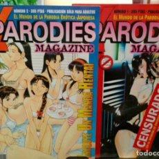 Tebeos: X PARODIES MAGAZINE.N° 1 Y 2.MANGA-HENTAI....EL MUNDO DE LA PARODIA ERÓTICA JAPONESA. Lote 295483658