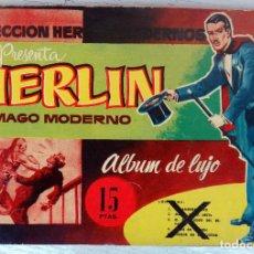 Tebeos Números 1: ALBUM DE LUJO , MAGO MERLIN , Nº 1 , COLECCION HEROES MODERNOS ,ORIGINAL ,J. Lote 65256927