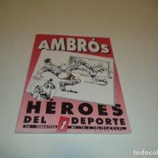 Tebeos Números 1: AMBRÓS, HÉROES DEL DEPORTE, Nº 1.. Lote 71735067