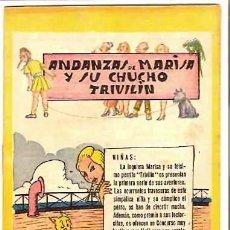 Tebeos Números 1: ANDANZAS DE MARISA Y SU CHUCHO TRIVILIN Nº 1 , CONSERVA SU RECORTABLE DE NIÑA DE PLAYA BUEN ESTADO. Lote 92192660