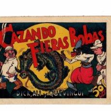 Tebeos Números 1: CAZANDO FIERAS BOBAS Nº 1 -DICK,ALI Y QUEVINGUI- ORIGINAL VALENCIANA 1944. MUY BUENO.. Lote 105379159